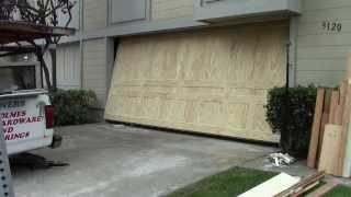 getlinkyoutube.com-A wood one piece garage door