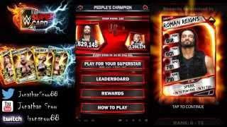 getlinkyoutube.com-WWE Supercard Season 2 #5 9000 Survivor Ladder Reward and Pcc Day 1 Grind