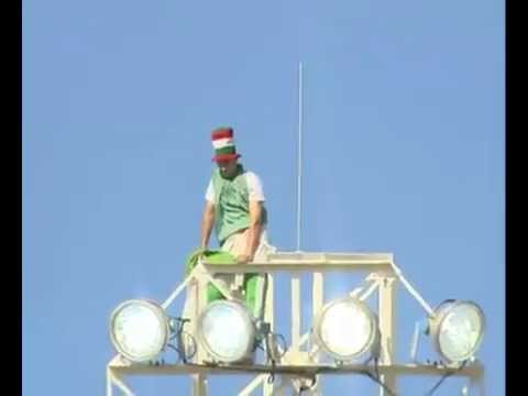 CRAZY - Fan Algerian scale reflector in Algeria vs Slovenia (0-1) World Cup 2010