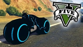 getlinkyoutube.com-INCREIBLE! MOTO DEL FUTURO!! MOTO DE TRON!! - GTA V PC MODS