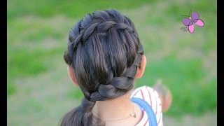 getlinkyoutube.com-Peinado con Trenza de Cascada - Waterfall Braided Hairstyle | Peinados con Trenzas |