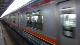 getlinkyoutube.com-【フルHD】JR武蔵野線205系 舞浜駅発車 1(元南武線編成)