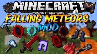 getlinkyoutube.com-FALLING METEORS MOD PARA MINECRAFT PE 0.14.0 | Mods Para Minecraft PE 0.14.0