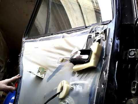 Как снять извлечь заменить стекла задней двери CHERY AMULET(2008)demontaz zamiana szyby drzwi tyl!!!