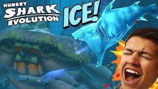getlinkyoutube.com-NEW ICE SHARK! SPECIAL SHARK |  Hungry Shark Evolution | ICE SHARK VS GIANT CRAB!
