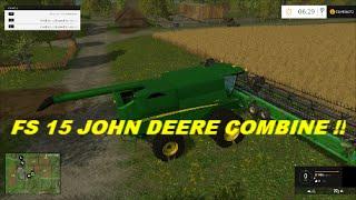 getlinkyoutube.com-Farming simulator 2015 John Deere combine mod