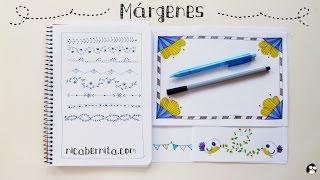 getlinkyoutube.com-MÁRGENES para CUADERNOS y bordes para CARTAS. Ideas para decorar cuadernos y apuntes