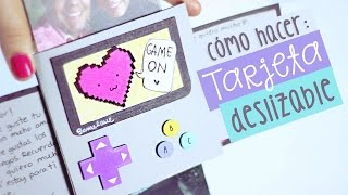 getlinkyoutube.com-¡Tarjeta deslizable sorpresa! Regalos originales: PULL CARD ✎ Craftingeek
