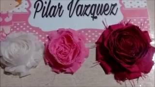 Como hacer una flor Shabby