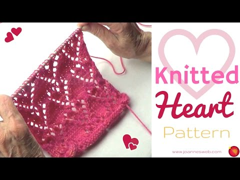 Heart Knitting Pattern   How to Knit Hearts