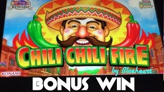 getlinkyoutube.com-CHILI CHILI FIRE slot machine BONUS WIN with TWO RETRIGGERS