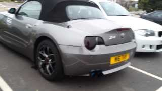 CRAZY Sounding BMW Z4 exhaust straight pipes.