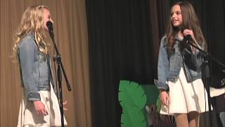 """getlinkyoutube.com-Ava and Mirabella Win Talent Show Singing Acapella """"Better in Stereo"""""""
