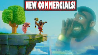 """getlinkyoutube.com-Clash of Clans - """"NEW ANIMATED COMMERCIALS!"""" Shocking Moves + Balloon Parade + Ride of the Hog Rider"""