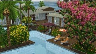 getlinkyoutube.com-Tropical Wave Resort - Sims 3 House Building