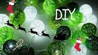 Idą Święta #pomysł na prezent DIY / Cottonballs lights
