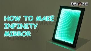 getlinkyoutube.com-How to make Infinity mirror | LED ILLUSION MIRROR