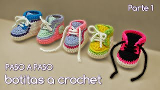 getlinkyoutube.com-Cómo tejer zapatitos botitas escarpines bebé crochet, ganchillo - VARIOS TALLES (1/2)