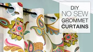 getlinkyoutube.com-How to Make No Sew Grommet Curtains