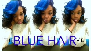 getlinkyoutube.com-Natural Hair | Dying My Hair BLUE!!