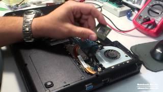 getlinkyoutube.com-★ Как разобрать ноутбук - Lenovo G555 чистка от пыли и рекомендации по замене термопасты