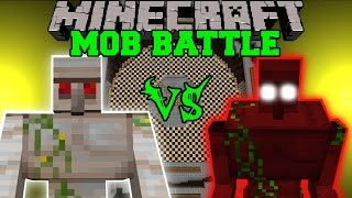 getlinkyoutube.com-MUTANT IRON GOLEM VS DEMON GOLEM - Minecraft Mob Battles - Mods