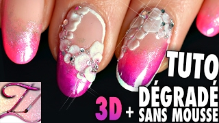 getlinkyoutube.com-Tuto nail art french dégradé SANS mousse + 3D