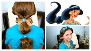 getlinkyoutube.com-Jasmine Hairstyle Tutorial | A CuteGirlsHairstyles Disney Exclusive