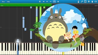 getlinkyoutube.com-[Synthesia] Joe Hisaishi [久石譲] - Tonari no Totoro {duet} [となりのトトロ]