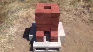 getlinkyoutube.com-Building a Brick Rocket Stove - Rocket Forge Experiment