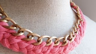 getlinkyoutube.com-Collar de trapillo. Tutorial