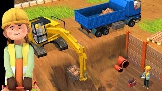 getlinkyoutube.com-Little Builders App - Trucks, Cranes & Diggers | Top Best Apps For Kids
