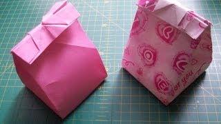 getlinkyoutube.com-Как сделать из бумаги подарочный пакет оригами своими руками