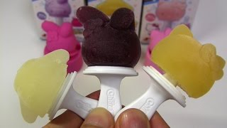 getlinkyoutube.com-Hello Kitty Lolly Ice Maker 'CharaPON!' ~ ひやしてキャラポン ハローキティのアイス