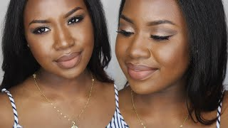 "getlinkyoutube.com-∆ 21st Birthday Neutral Glam Ft. NYX Matte Lip Cream in ""Abu Dhabi"""
