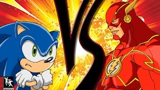 getlinkyoutube.com-Sonic Vs The Flash: The Red Blue Blur