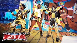 """getlinkyoutube.com-The New Day pops out of a giant box of """"Booty-Os"""" cereal: WrestleMania 32 on WWE Network"""
