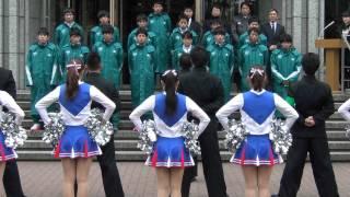 getlinkyoutube.com-2014年12月12日 青山学院大学陸上競技部箱根駅伝壮行会 応援団とチアによる激励・カレッジソング