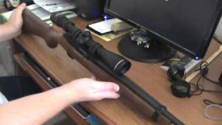 New scope on the Ruger 10-22.wmv
