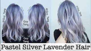 getlinkyoutube.com-Pastel Silver Lavender Hair