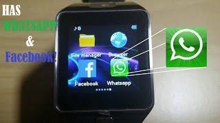 getlinkyoutube.com-New DZ09 SmartWatch: Whatsapp & Facebook