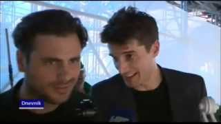 getlinkyoutube.com-2CELLOS played in the sand
