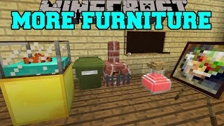 getlinkyoutube.com-Minecraft: MORE FURNITURE! (AQUARIUM, GARBAGE CAN, OFFICE CHAIR, & MORE) Mod Showcase