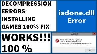 getlinkyoutube.com-Decompression Failed With Error Code 100% Fix , ISDONE dll & Unarc dll while installing games