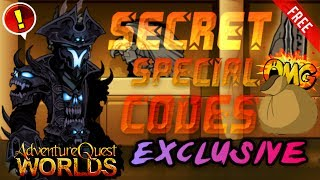getlinkyoutube.com-AQW | ALL Secret Special Codes! [EXCLUSIVE!] (2016)