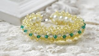 getlinkyoutube.com-How to Make an Embedded Double Beaded Lace Bracelet