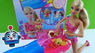 getlinkyoutube.com-Barbie y sus perritos nadadores Swim & Race Pups - Juguetes de Barbie