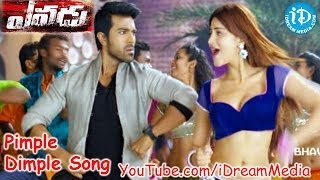 Yevadu Movie - Pimple Dimple Video Song    Ram Charan    Allu Arjun    Shruti Haasan    DSP width=