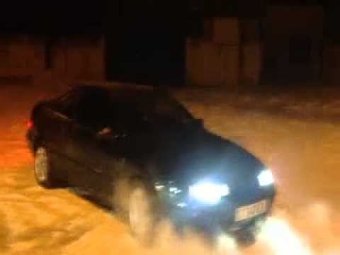 Opel calibra на снегу))
