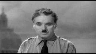 getlinkyoutube.com-Charlie Chaplin - Famous speech (Adolf Hitler's style)